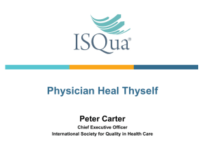 ISQUA Webinar_December 2013_Peter Carter