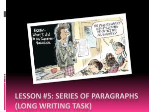 Lesson 5- Series of Paragraphs[1] - Pages