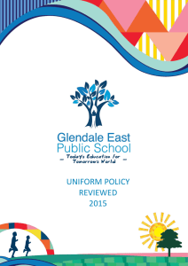 uniform policy - Glendale East Public School