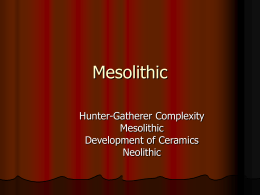 Mesolithic Cultures