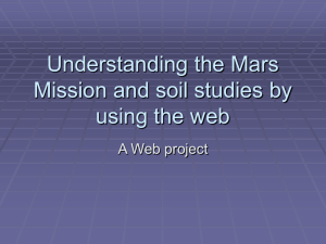 Understanding the Mars Mission