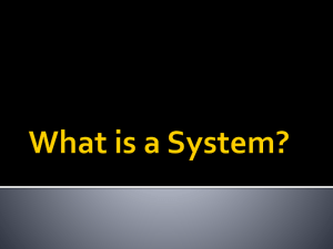 What is a System? - OCPS TeacherPress