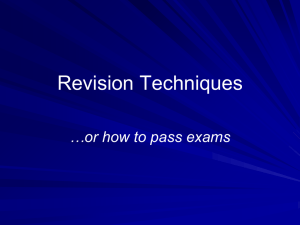 Revision Techniques Powerpoint