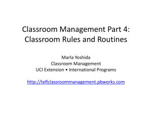 Tools for Teaching - teflclassroommanagement