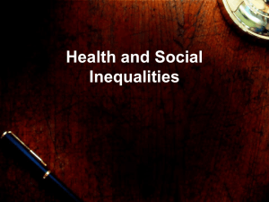 Health and Social Inequalities