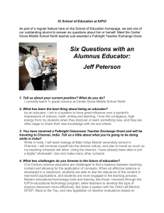 Six Questions with an Alumnus Educator