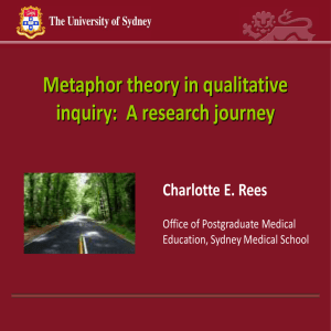 A research journey Charlotte E. Rees