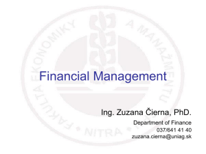 Financial Statements Financial Analysis Financial Planning