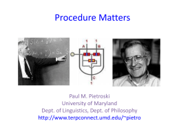 Procedure Matters - TerpConnect