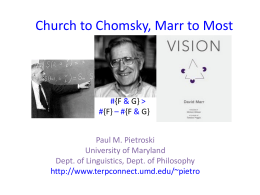 ChurchToChomsky - TerpConnect
