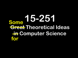 lecture27 - School of Computer Science