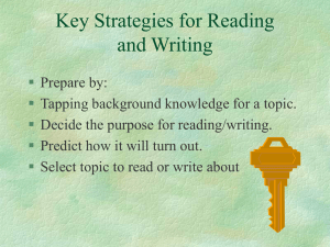 Key Strategies for Reading and Writing