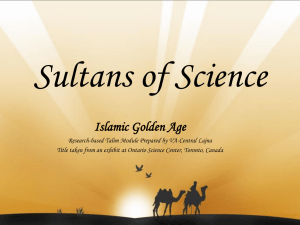 Sultans of Science Islamic Golden Age