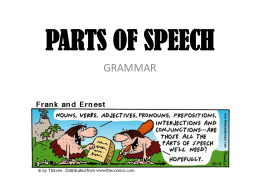 parts of speech powerpoint
