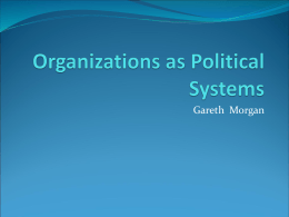 Organizations as Political Systems