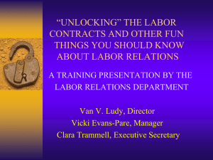 """unlocking"" the labor contracts and other fun things about labor"