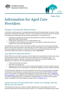 Information for Aged Care Providers