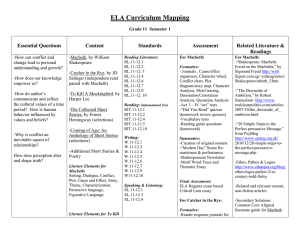 ELA Curriculum Mapping