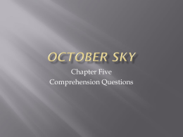October Sky - TeacherWeb