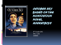October Sky Powerpoint