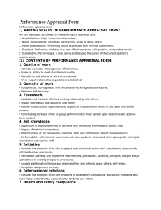 ii/ contents of performance appraisal form
