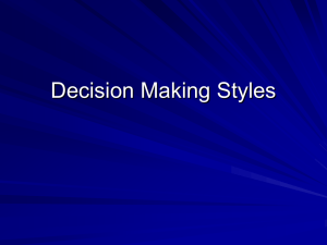 PowerPoint on Decision Making Styles