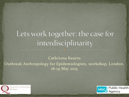 Working interdisciplinarily_C.Kearns