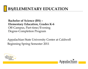 Spring 2011 Cohort (Caldwell) - Distance Education