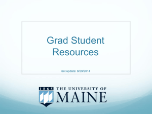 GSGGradResources1 - The University of Maine