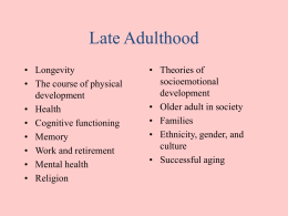 Cognitive development in adult