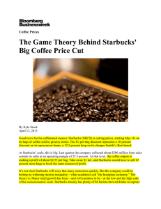 Game Theory of Coffee Prices