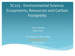 SC225 - Environmental Science: Ecosystems, Resources and