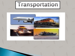 Introduction of Transportation