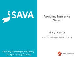 Hilary Grayson, SAVA – How to handle insurance claims