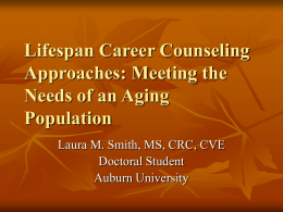 Lifespan Career Counseling Approaches