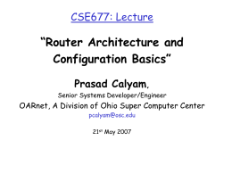 Router - Ohio Supercomputer Center