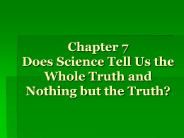 Does science tells us the truth essay