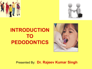 Introduction to pedodontics [PPT]