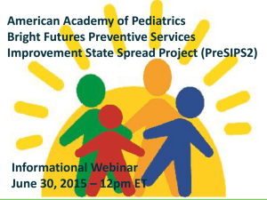 PreSIPS2 - Bright Futures - American Academy of Pediatrics