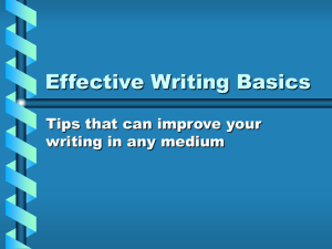 Six keys to effective writing