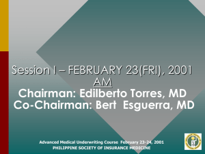 Introducing a Speaker - philippine society of insurance medicine