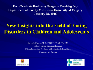 New Insights into the Field of Eating Disorders in Children and