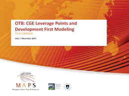OTB – Leverage Points and Model Development