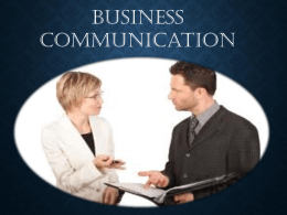 Chapter – 1 Business Communication