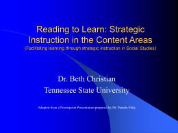 Reading to Learn - Tennessee State University