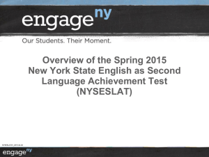 Spring 2015 NYSESLAT: Questions Answers NYSESLAT