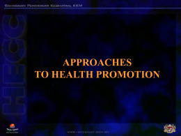 approaches in health promotions