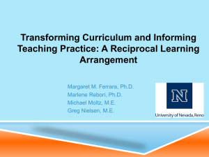 Transforming curriculum and informing teaching practice