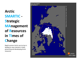Arctic SMARTIC Strategic MAnagement of Resources in TImes of