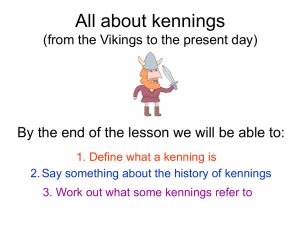 All about kennings - Primary Resources